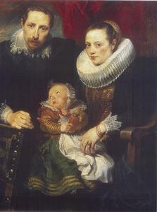 Portret van een jonge familie