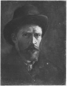 Zelfportret met vilten hoed