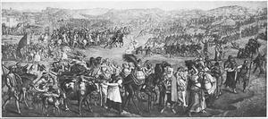 De mars naar Rada in Tunesië door het leger van Karel V