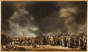 Het vertrek van koningin Henriëtta Maria naar Engeland vanuit Scheveningen, 29 januari 1643