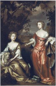 Portret van twee onbekende vrouwen uit de familie Conyngham