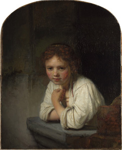 Meisje in een venster
