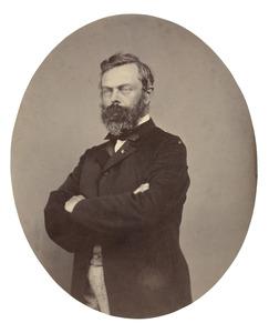 Portret van de schilder Willem Roelofs (1822-1897)