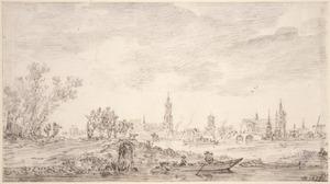 Delft, vanuit het noorden gezien