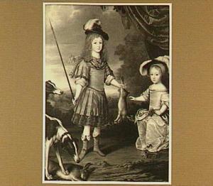 Portret van Hendrik Casimir II en zijn zuster Sophia Hedwig