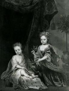 Dubbelportret van Willem IV van Oranje-Nassau (1711-1751) als kind met zijn zuster Anna Charlotta Amalia Louisa (1710-1777)