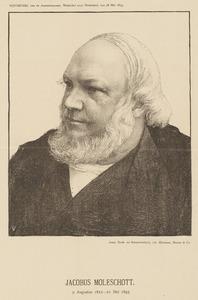 Portret van Jacobus Moleschott (1822-1893)