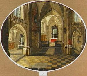 Interieur van een kerk bij daglicht