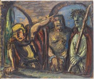 Pilatus vraagt het volk te kiezen  tussen Christus en Barabas