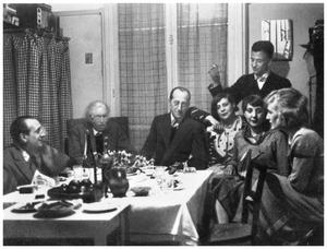 Zondagbijeenkomst van de groep Cercle et Carré, in Michel Seuphors atelier te Vanves