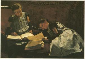 Portret van Elisabeth Caroline Arntzenius (1881-1936) en Dora Wilhelmina Arntzenius (1882-1956)