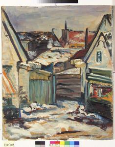 Laren (Noord-Holland), dorpsgezicht in de sneeuw
