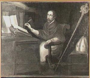 De H. Augustinus in zijn studeervertrek