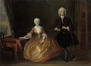 Portret van een onbekende man envrouw
