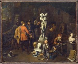 Bezoek aan het atelier van een beeldhouwer