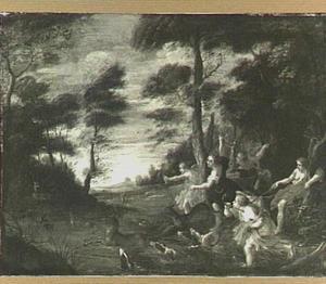Diana en haar nimfen op hertenjacht