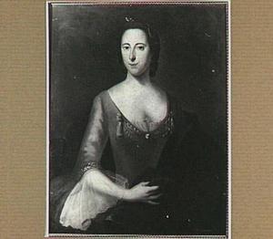 Portret van een vrouw, mogelijk Maria Margaretha de Witte (1714-1748), echtgenote van Johan Gerard Oldenbarneveld, genaamd Witte Tullingh