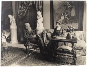 Portret van Henricus Paulus Cornelis Bosch van Drakestein (1839-1914) en Marguerite Marie Elisabeth Jeanne Ghislaine van de Vin (1846-1929)
