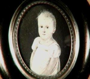Portretminiatuur van een kind