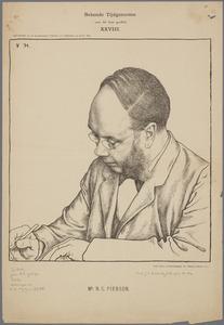 Portret van Mr. N.G. Pierson