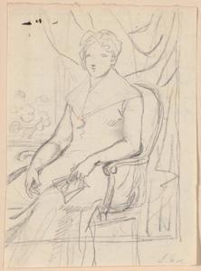 Voorstudie van gravin Anna Joachima Danneskiold-Laurvigen (1717-1795) op 74-jarige leeftijd