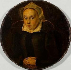 Portret van Lijsbeth Leuven (1534-1625)
