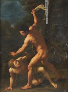 Kaïn vermoordt zijn broer Abel (Genesis 4: 8)