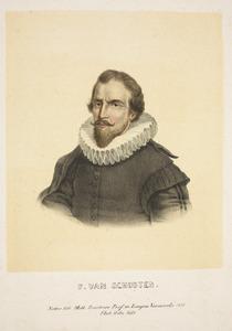 Portret van Franciscus van Schooten (1581-1645/1646)