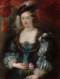 Portret van een vrouw, traditioneel Helena Fourment (1614-1673), de tweede vrouw van de kunstenaar genoemd