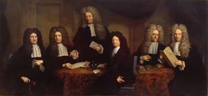 Groepsportret van de regenten van het Oudezijdshuiszitten-aalmoezeniershuis en het Weduwenhof te Amsterdam