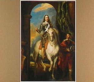 Ruiterportret van Karel I met M. de St. Antoine, stalmeester des konings