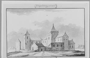 Voor- en rechterzijde van Hillegersberg (ook wel Ter Berghe) bij Rotterdam