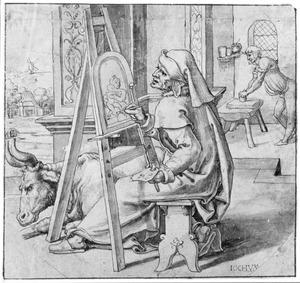 De H. Lucas schildert Maria met kind