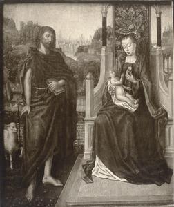 Tronende Maria met kind en de H. Johannes de Doper