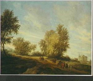 Landschap met de Leviet van Gibea en zijn dode bijvrouw op weg naar huis (Richteren 19:28)