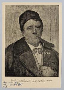 Portret van de acteur Louis Bouwmeester