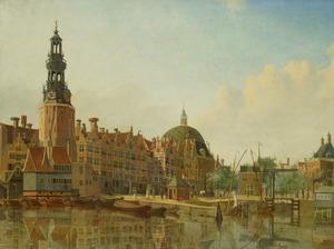 De Haringpakkerstoren te Amsterdam gezien vanaf het IJ