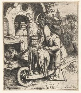Messenslijper aan het werk bij een schoenmaker