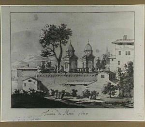 Rome, S.Trinita dei Monti, van achteren gezien