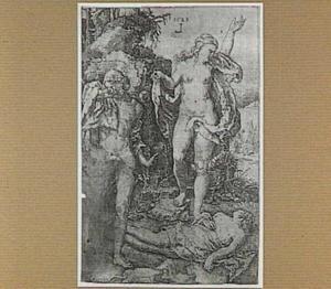 Adam en Eva rouwen om de dood van Abel (niet bijbels)