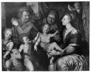 De H. Familie met de H. Elizabeth, Johannes de Doper en twee engeltjes