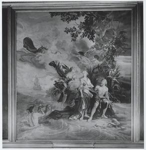 Venus vraagt Neptunus om het schip van Telemachus tot zinken te brengen