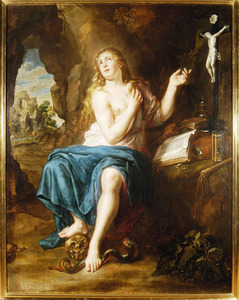 De boetvaardige H. Maria Magdalena in een grot