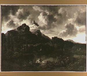 Berglandschap met watermolen