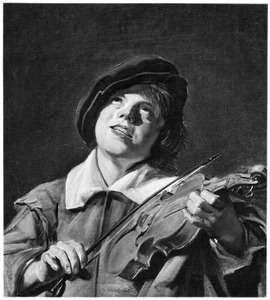Vioolspelende jongeman