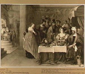 Salome brengt Herodes het hoofd van Johannes de Doper