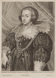 Portret van Ernestina Yolanda de Ligne (1594-1663)