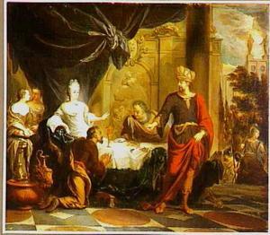 Ahasveros woede tegen Haman (Ester 7:6-8)