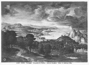 Landschap met de door de leeuw gedode ongehoorzame profeet (I Koningen 13:24)