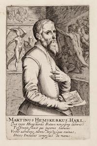 Portret van Maarten van Heemskerck (1498-1574)